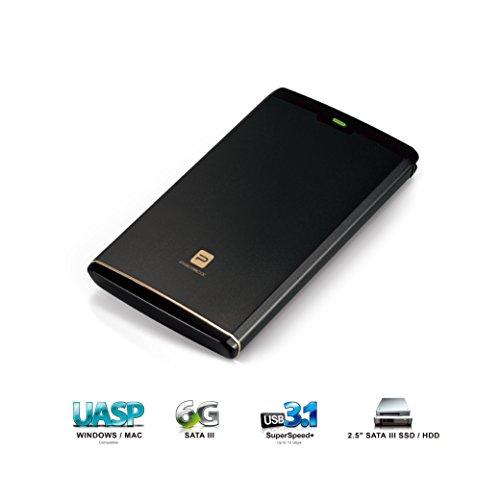 Mediasonic USB 3.1 GEN-II (10 Gbps) 2.5' SATA SSD / Hard Drive Enclosure - Support SATA 3 6.0Gbps SSD / HDD & UASP (HDK-SU31))