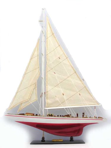 """America's Cup Yacht - Endeavour Model Yacht 24""""L - Painted"""