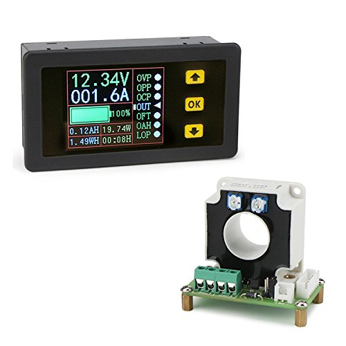 DROK DC 0-90V 100A Volt Amp Power Watt Capacity Time Meter