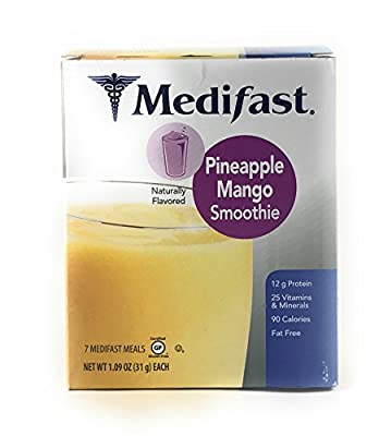 Medifast Pineapple Mango Smoothie (1 Box 7 Servings)