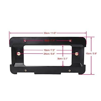 X AUTOHAUX Black Rear License Plate Bumper Mounting Holder Bracket w/ 6 Screws for BMW X3 X5 328i: Automotive