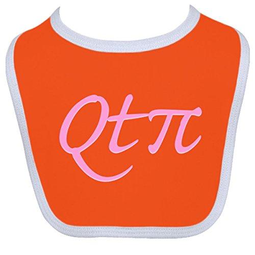 Inktastic Baby Boys' QTpie Baby Bib One Size Orange/White