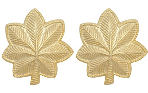 (U.S. Army Metal Pin On Officer Rank NON-SUBDUED (SHINY) - 1 PAIR (O4 - Major))