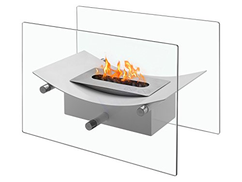 Verona - Ventless Tabletop Bio Ethanol Fireplace, Portable Fireplace (Portable Ethanol Fireplace)