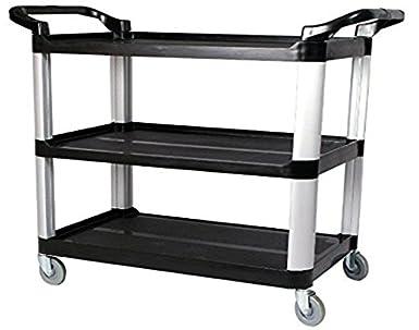 Large Size Utility Cart MultiPurpose 3 Shelf Cart with Heavy
