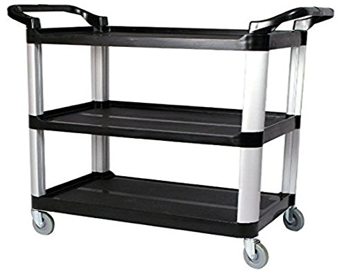 Large Size Utility Cart, Multi-Purpose 3 Shelf Cart with ...