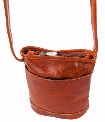 David King & Co. Florentine Top Zip Mini Bag 3512 Blue, Honey, One Size
