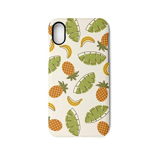 iPhone Case Pineapple Tropical Fruit Slim Flexible Soft Silicone Bumper Shockproof Case for iPhone X