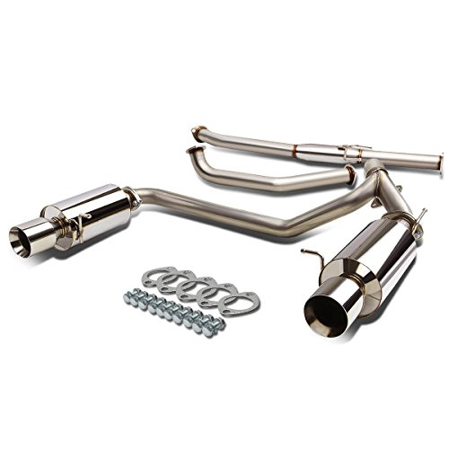 For Tiburon GK V6 Stainless Steel Dual 4 inches Muffler Tip Catback Exhaust System