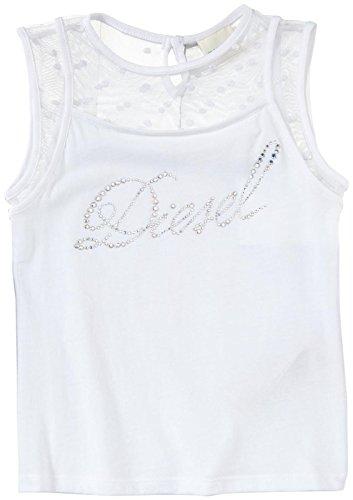 - Diesel Little Girls' Sleeveless Tee W/Embroidered Mesh Top (Kid) - White - 6