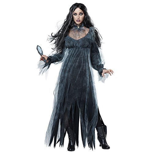 Slocyclub Women's Gothic Deluxe Cemetery Ghostly Bride Costume for Halloween -