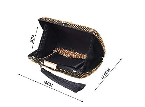 Handbags High Diamond Annual Grade Women's Full Luxurious Bags Drill Juzhijia Wedding Fringes wgxFSq1qn