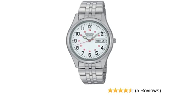 Amazon.com: Seiko Mens SGGA59 Dress Railroad Approved Silver-Tone White Dial Watch: Seiko: Watches