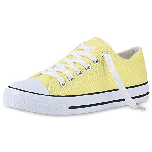 Zapatillas planas, unisex, deportivas amarillo