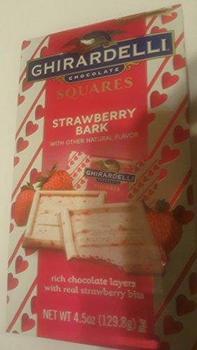 Ghirardelli Valentine Chocolate Square Strawberry Bark Limited Edition 4.5 Oz