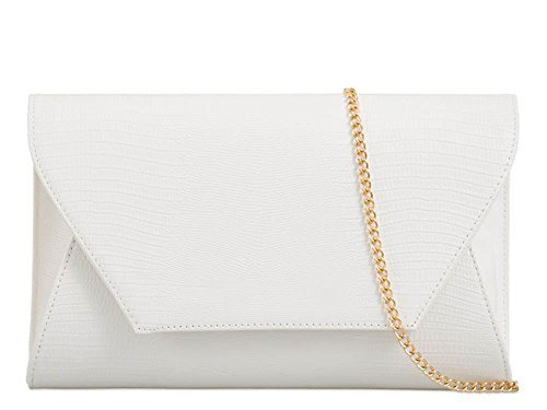 Haute For Diva Women 3D Envelope Clutch Bag Navy White