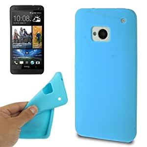 Pure Color Silicone Case for HTC One / M7 (Baby Blue)