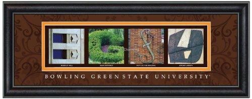 Prints Charming Letter Art Framed Print, Bowling Green State-Bgsu, Bold Color - Mall Bowling