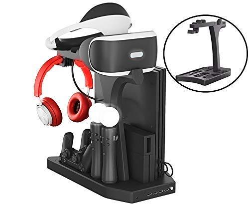 Lenboken-KJH All-in-One PSVR Charging Display Stand PlayStation VR Vertical Stand Cooling Fan with Controller Charging Station, PSVR Glasses & Headset Bracket ,Universal Game Disk Storage Tower PSVR2 by LENBOKEN