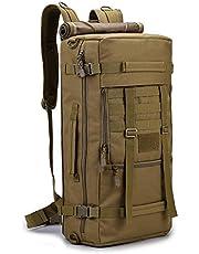 TOOGOO 50L Camping Backpack Sports Hike Bags Mountaineering Bag Men's Hiking Rucksack Travel Backpack Black