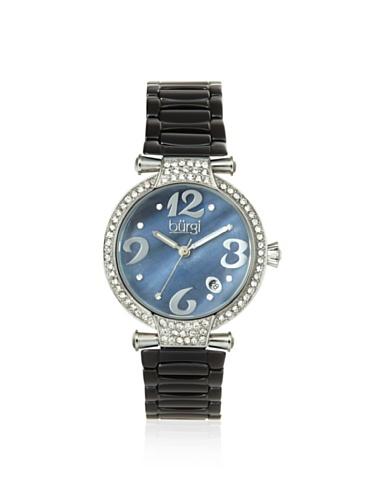 Burgi Women's BUR071BK Quartz Date Ceramic Bracelet Watch Black