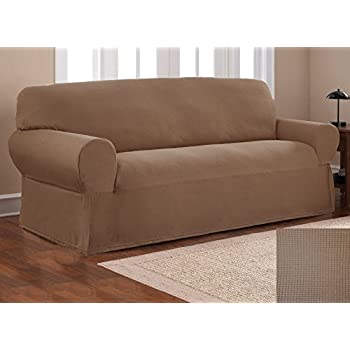 Bon Fancy Collection Sure Fit Stretch Fabric Sofa Slipcover 2 Pc Sofa And Love  Seat Covers Solid