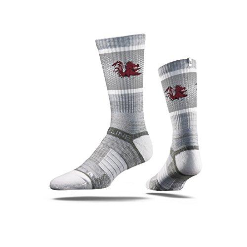Strideline NCAA South Carolina Fighting Gamecocks Premium Athletic Crew Socks, Grey, One - Premium Carolina