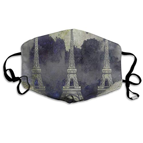 FunnyCustom Mouth Mask Vintage Abstract Paris Eiffel Tower Face Mask Winter Healthy Warm for Students Halloween]()