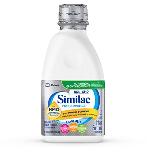 Similac Pro-Advance Non-GMO with 2'-FL HMO Infant Formula Ready-to-Feed, 1qt Bottles (Pack of 6) -  ABBN7 - pallet ordering, 4336278125