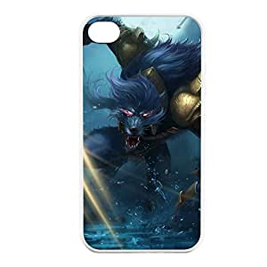 Warwick-004 League of Legends LoL case cover for Apple iPhone 4 / 4S - Rubber White