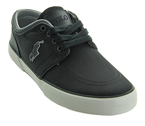 Matte Sneaker Low Ralph Performance Men's Polo Black Fabric Nylon Faxon Lauren wS0xAa