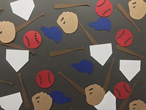 Baseball Confetti - Baseball Birthday Decor - Little Boy Birthday Decor - Sports Birthday Party - Baseball Decorations - Baseball Gloves - 250 pieces -