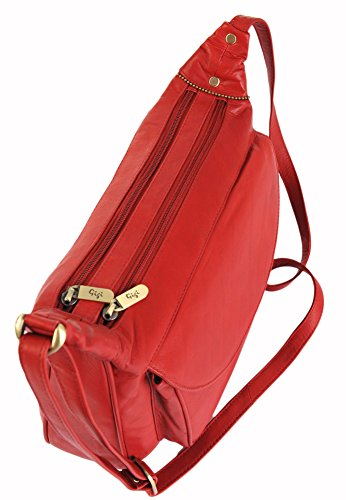 À Othello 22 Bandoulière 17 Sac Rouge Diverses Cuir Tons Rouge Large Main GIGI wtdBfqB