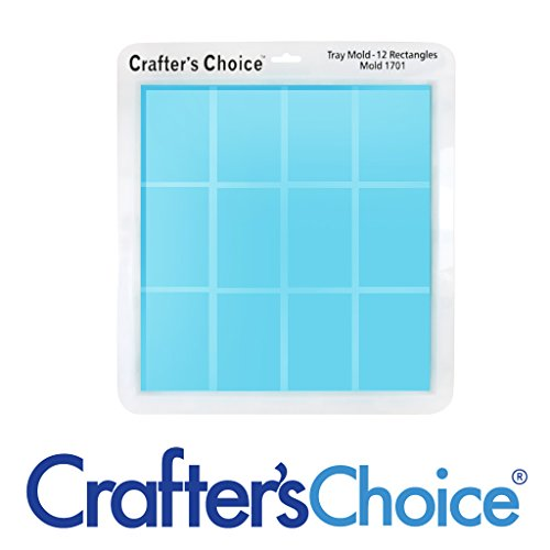 Prefabricated Wood - Crafters Choice - Silicone 12 Bar Heavy Duty Soap Mold - 1701