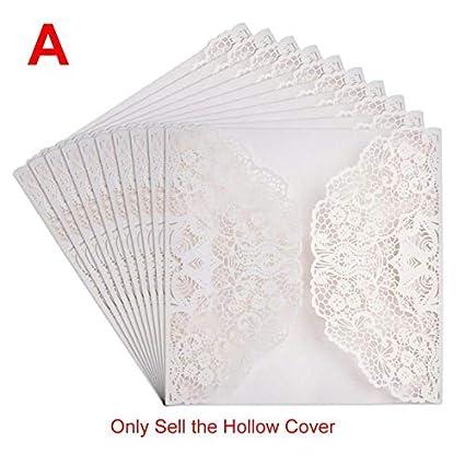 Amazon Com Fragil Tox Invitation Card 10pc Lot White Hollow
