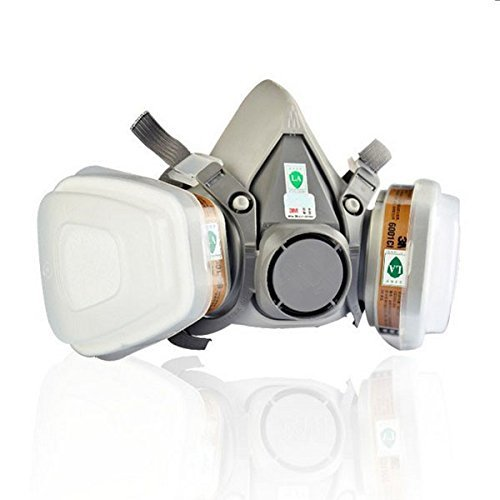 Double Gas Mask 3M 6200 N95 Protection Filter Industrial ...