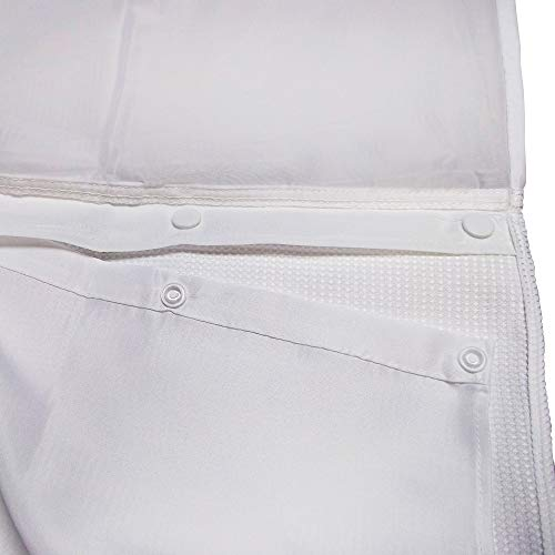 er Curtain Accessory Fabric Snap-In Liner in White ()