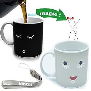 Magic Morning taza té café agua caliente Color cambiando taza de la porcelana