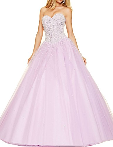 Dressyu A-line Beaded Princess Quinceanera Dresses Long P...