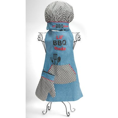 Manual Woodworkers Izzy Collection Lil' BBQ Dude Kids 3-Piece Apron Set