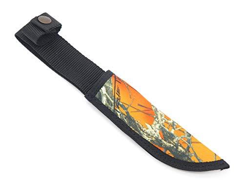 CASE XX Hunter Orange Camo Nylon Fixed 6 Inch Blade Hunting Knife Sheath
