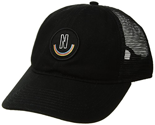 NEFF Men's Bunker Mesh Hat-Flat Billed Trucker Cap, Black, One Size - Sport Bunker Cap