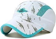 Ulalaza Adjustable Breathable Lightweight Quick Dry Mesh UV Protection Sun Hat UPF50+ Kids Children Baseball C