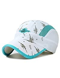 Ulalaza Adjustable Breathable Lightweight Quick Dry Mesh UV Protection Sun Hat UPF56+ Kids Children Baseball Caps Boys Girls