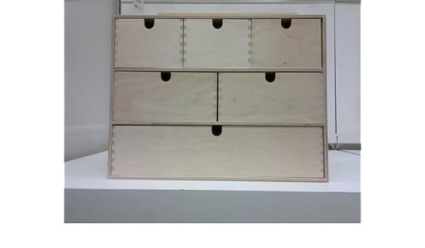 Ikea MOPPE - Mini cajonera, contrachapado de Abedul - 42x18x32 cm ...