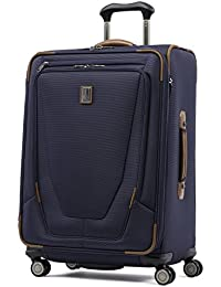 Crew 11-Softside Expandable Luggage with Spinner Wheels, Patriot Blue