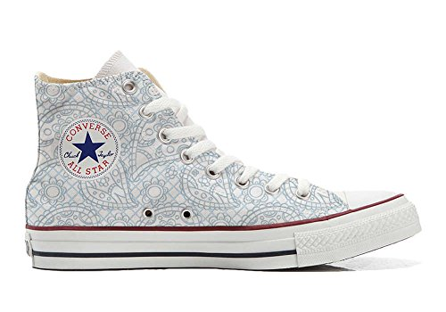 Converse All Star Customized - Zapatos Personalizados (Producto Artesano) Sky Paisley