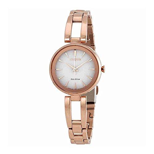 Citizen Gold Bracelets - Ladies' Citizen Eco-Drive Axiom Rose Gold Bracelet Watch EM0633-53A