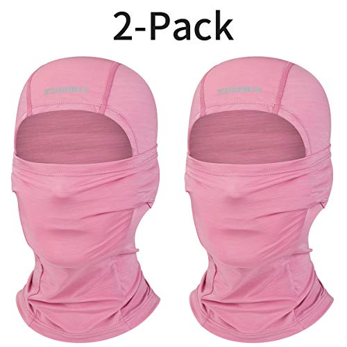 KINGBIKE Balaclava Sun Face Mask Neck Gaiter Summer UV Protection Lightweight Cooling Breathable Multifunction Masks for Motorcycle Riding Fishing Cycling Running for Men Women Youth (2-Pack, Purple)
