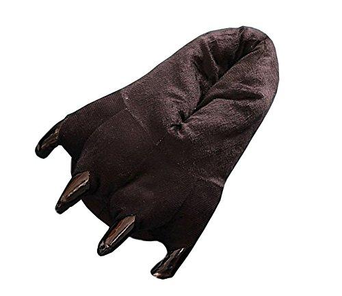 [YARBAR Soft Cosplay Monster Paw Plush Slipper Coral Velvet Thick Cotton slippers] (Black Sheep Costume Toddler)